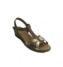 Women dress sandal buckle buckled ankle Rodri in brown