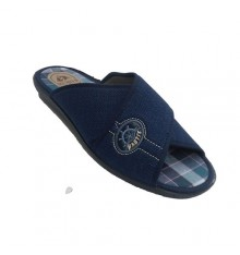 Chancla be home man crossed strips Muñoz y Tercero in navy blue
