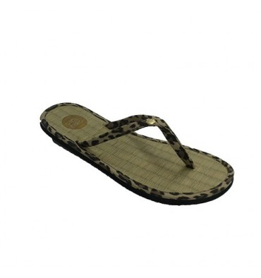 Finger Flip flops woman beach pool floor leopard drawings straw Gioseppo in various colors