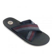 pisicna man Poolshoes two crossed strips Gioseppo in blue